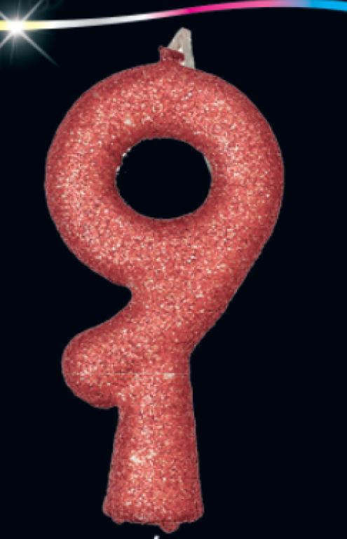 FESTCOLOR - VELA PURO GLITTER ROSE GOLD N.9 - CX.10UN