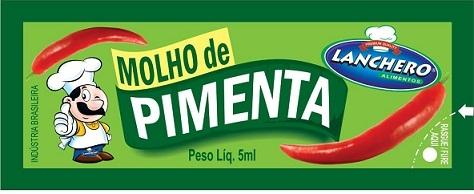 LANCHERO - MOLHO DE PIMENTA SACHE 5GR - CX.190UN