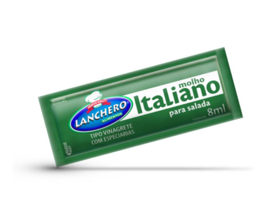 LANCHERO - MOLHO ITALIANO SACHE 8ML-CX.152UN