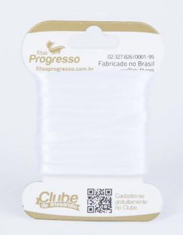 PROGRESSO - FITA CETIM DUPLO T900/000 10MX4MM (201) BRANCO - UN
